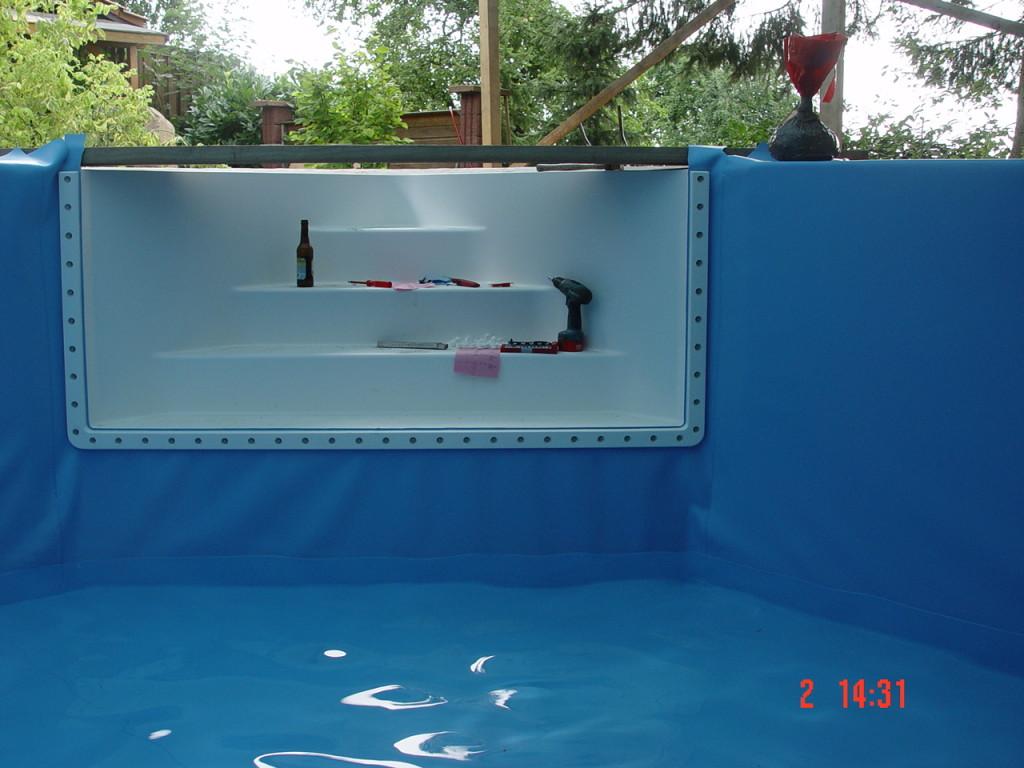 Pool mauern mit Badetreppe