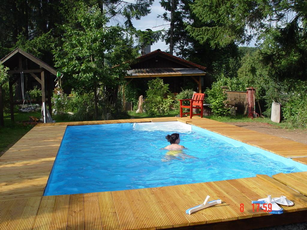 pool mauern - fertig