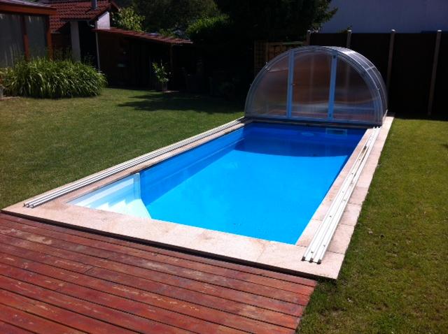 Pooltreppe luxus und komfort auch beim pool selbstbau for Aufstellpool klein