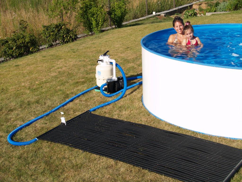 solarmatte für warmes Poolwasser